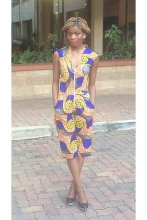 printed urbanZulu jumper - floral print Plum heels