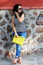 AX Paris top - Denham jeans - GiGi New York bag - Esprit sunglasses