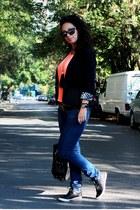 Mango jeans - Only blazer - romwe blouse