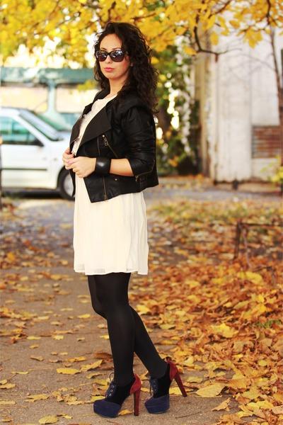 cool dressing boots - romwe dress - romwe jacket