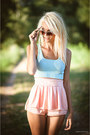 Peach-cotton-beatrice-gale-shorts-aquamarine-cotton-h-m-top