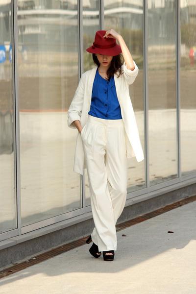 vintage hat - Zara blazer - asos pants