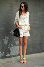 Shorts-sunglasses-top-sandals-blouse
