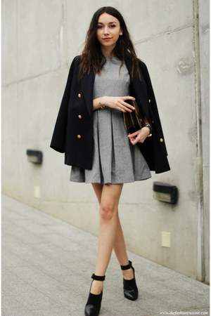 shoes - dress - blazer - bag