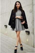 shoes - dress - blazer - bag