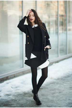shoes - sweater - blazer - skirt