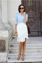 skirt - shirt - bag - sandals