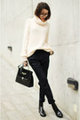 Zara-shoes-zara-sweater-vintage-bag-mango-pants