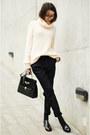 Zara-shoes-zara-sweater-vintage-bag-mango-pants
