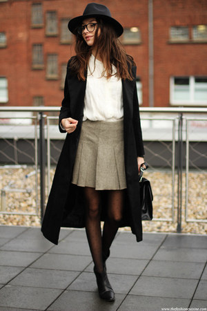shoes - coat - hat - bag - blouse - skirt
