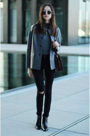 boots - jeans - jacket - bag - top