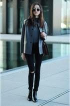 boots - jeans - jacket - bag - top