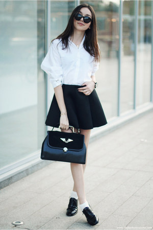 shirt - bag - skirt - loafers