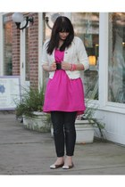 hot pink Target dress - tan Libby Edelman shoes - navy Forever 21 jeans
