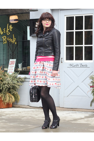 black Sofft shoes - white Trollied Dolly dress - black Top Shop jacket