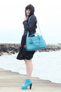 Turquoise-blue-urbanog-shoes-black-courtesy-of-eshakti-dress