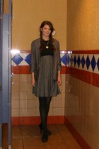 heather gray dress - heather gray Charlotte Russe jacket - black xhilaration sho