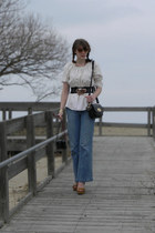 light blue Old Navy jeans - cream Ebay shirt - black Mulberry for Target purse -