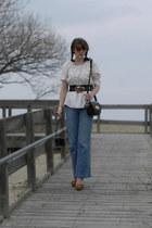 light blue Old Navy jeans - cream Ebay shirt - black Mulberry for Target purse -