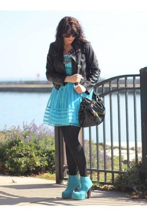 Topshop jacket - UrbanOG boots - B Darlin dress