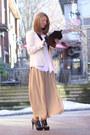 White-tuxedo-zara-blazer-white-vintage-christian-dior-blouse-nude-chiffon-am