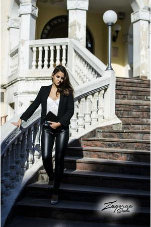 black Orsay blazer - leather Orsay leggings
