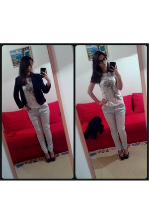 new look jeans - Orsay blazer - legend shirt