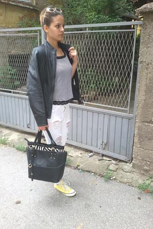 Stradivarius jeans - david jones bag - PS Fashion sunglasses