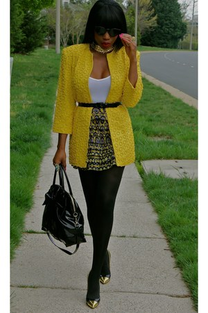 vintage jacket - patent and gold Christian Louboutin pumps