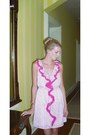 Pink-ruffle-loft-dress