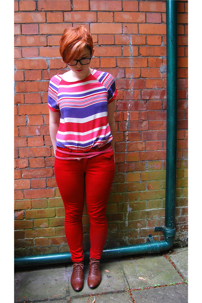Burnt Orange Brogues Aldo Shoes, Red Next Jeans, Hot Pink Urban ...