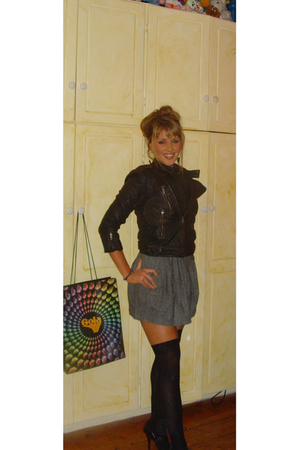 asos jacket - pepe skirt - A-wear stockings - River Island shoes - Accesorize ea
