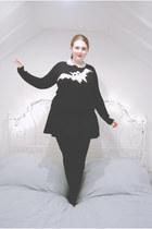 black jersey Topshop skirt - black knit JW Anderson for Topshop jumper