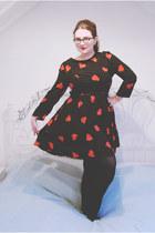 black heart print Topshop dress