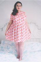 bubble gum floral Primark dress