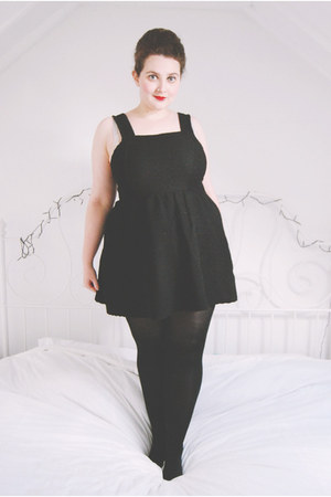 black pinafore Topshop dress