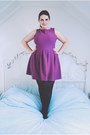 Amethyst-skater-topshop-dress-black-opaque-primark-tights