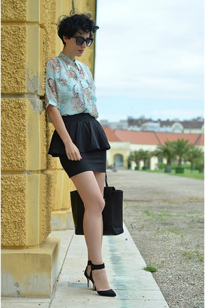 Zara skirt - Zara shoes - wwwvj-stylecom bag - wwwoasapcom sunglasses