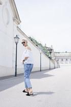 H&M shoes - Wrangler jeans - H&M blouse