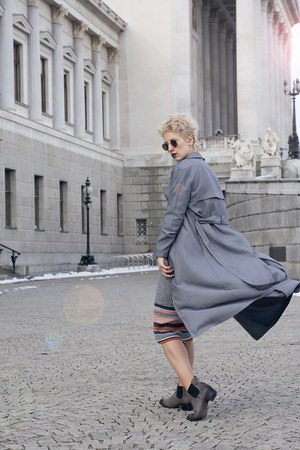H&M dress - shein coat