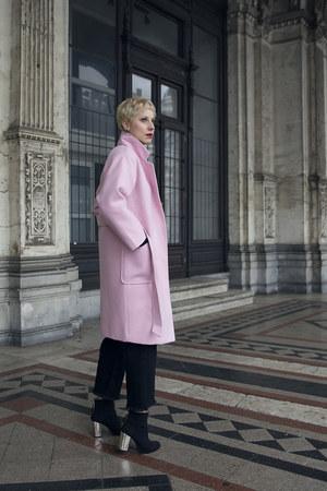 Sheinside coat - Zara shoes