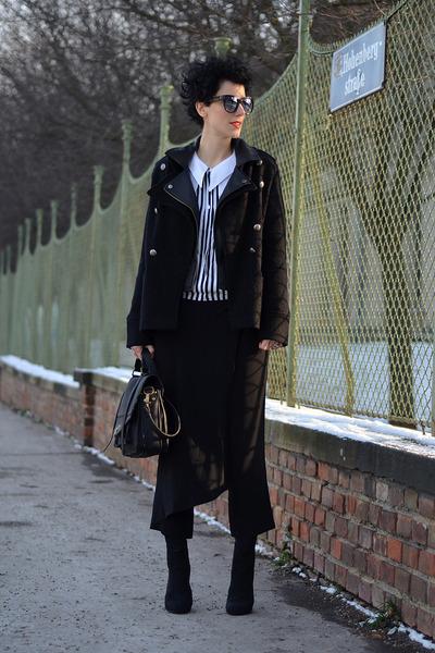 Zara boots - Zara jacket - wwwnowistylejp bag - wwwoasapcom sunglasses