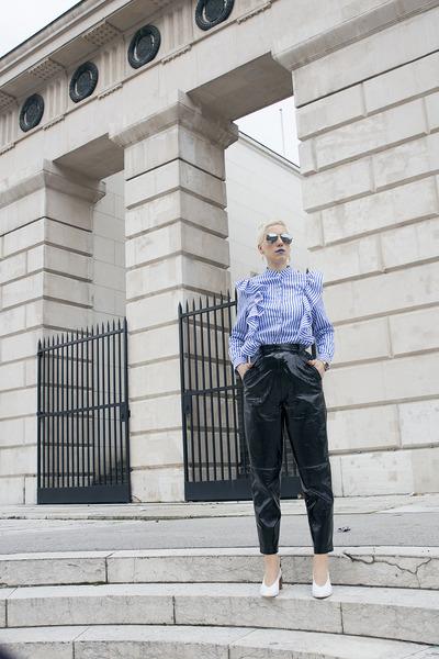 shein blouse - Zara shoes - H&M pants