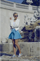 Sheinside skirt - Chicwish shoes - 6ks blazer