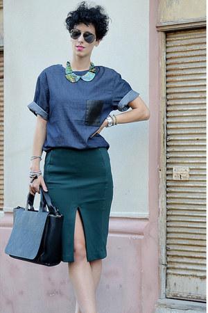 Zara shoes - Zara bag - H&M Trend skirt - H&M Trend blouse