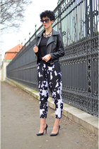 RocksPaperMetal necklace - Sheinside jacket - OASAP sunglasses - Zara pants