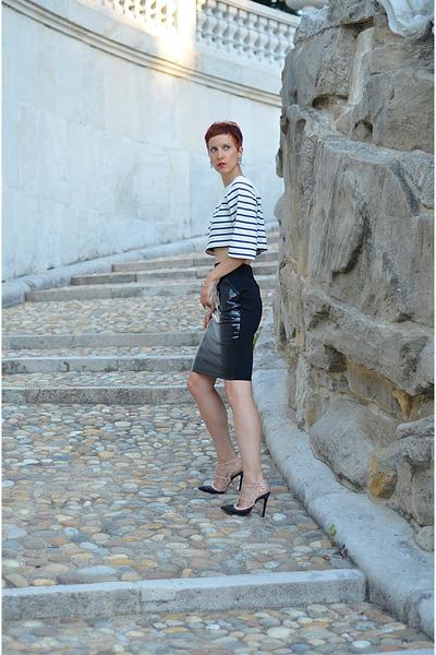 Mart of China shoes - Rocks Paper Metal earrings - H&M skirt