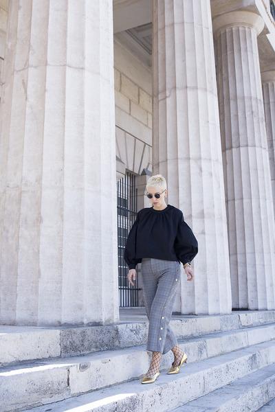 Zara blouse - H&M shoes - Zara pants