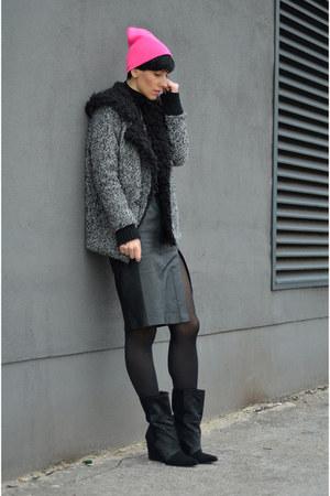 Isabel Marant boots - Choies coat - vintage skirt