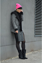 Isabel Marant boots - Choies coat - vintage skirt